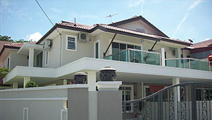 Double Storey Terrace - Front View
